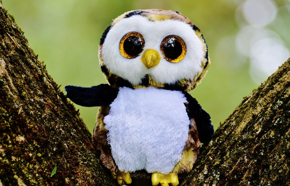 owl-glitter-stuffed-animal-cute