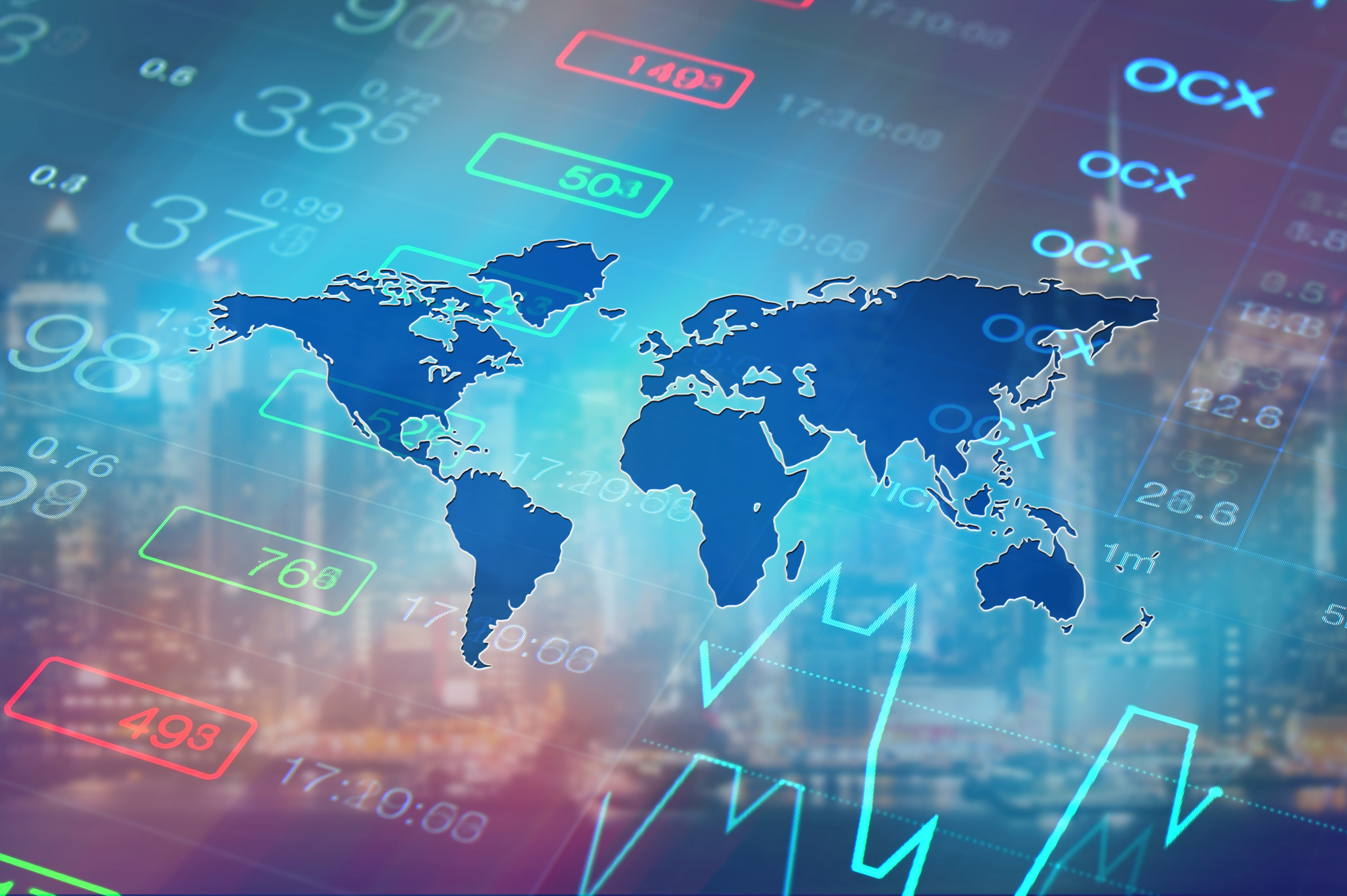 Global economy, world financial markets concept. Abstract busine